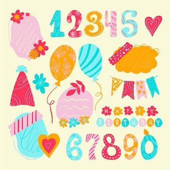 귀여운 생일 스크랩북 컬렉션