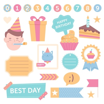 かわいい誕生日スクラップブックセット