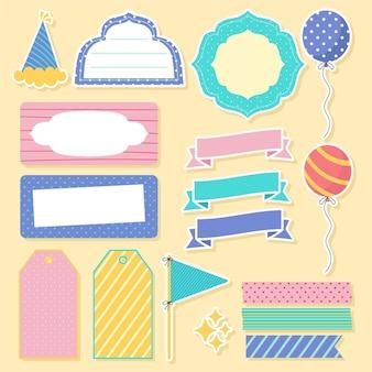 Набор милый день рождения записки