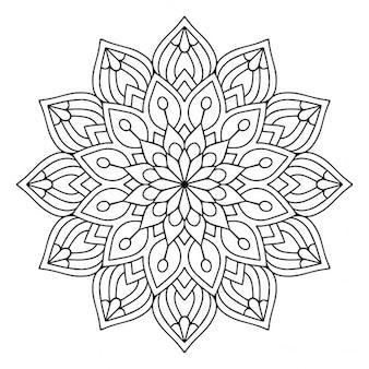 A cute black and white mandala