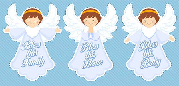 Cute blessing angel, baby boy decoration
