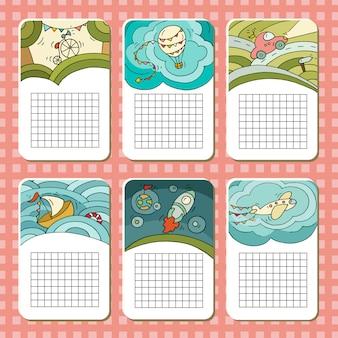 Cute blocks cards