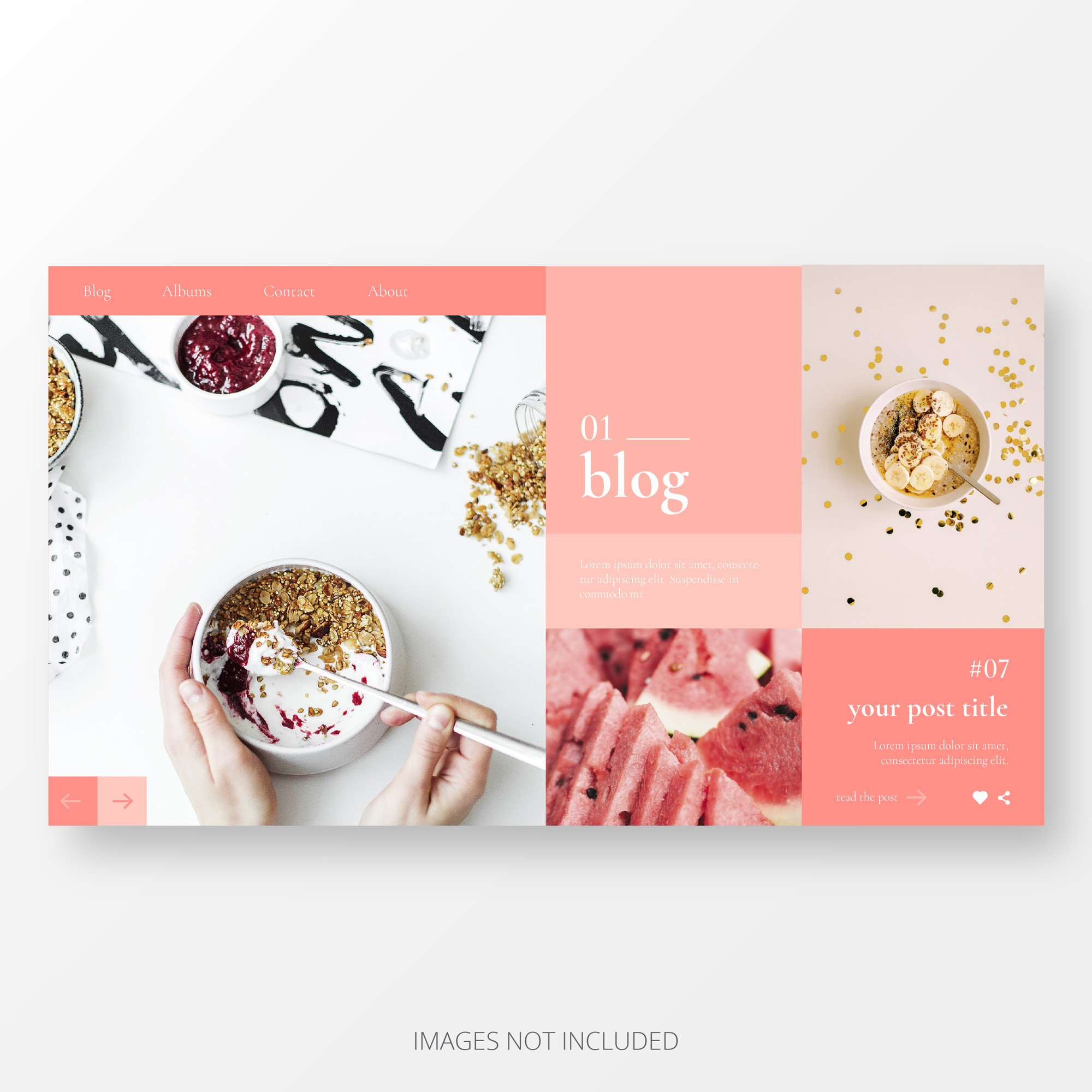 Cute Blog Landing Page Template