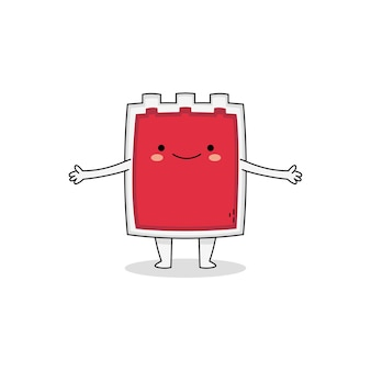 Cute blood bag cartoon character