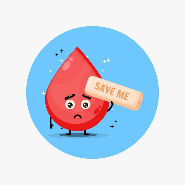 Cute blood mascot begs to be saved