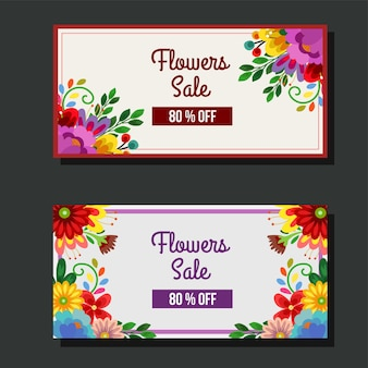 귀여운 꽃 꽃 판매 배너