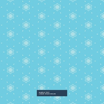 Cute blue background with a floral pattern