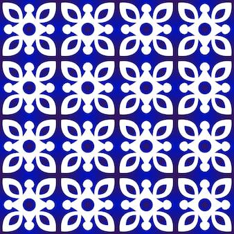 かわいい青いパターンベクトル