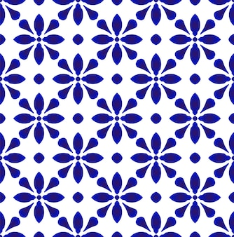 Cute blue and white seamless pattern