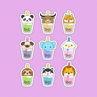 Cute boba tea