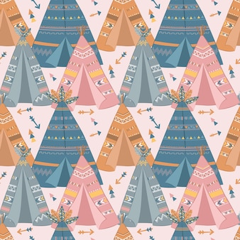 Cute boho seamless pattern for children fabric wallpaper and many more