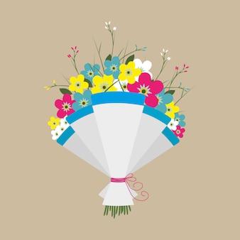 꽃의 귀여운 꽃다발