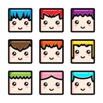 Cute box head mascot vector design