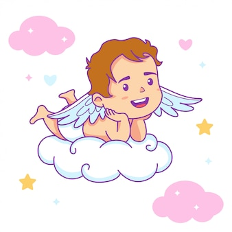 Cute boy baby angel