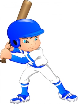 Милый мальчик бейсболист