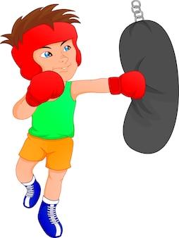 Cute boy boxer