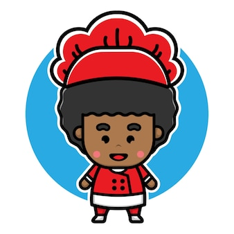 Cute boy chef character design