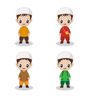 귀여운 소년 이슬람 캐릭터