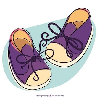 Милый мальчик обувь иллюстрация