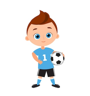 Cute boy. vector illustration isolated on white background. flat cartoon style. banner with funny cartoon child.