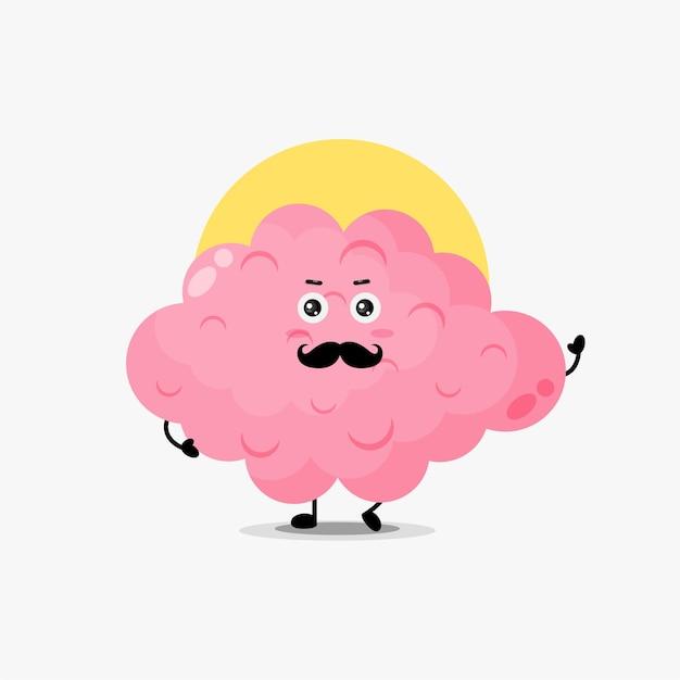 口ひげとかわいい脳のキャラクター