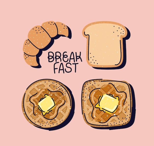 Симпатичные символы завтрака