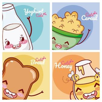 かわいい朝食成分かわいい漫画