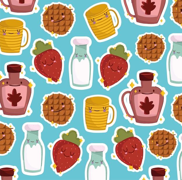 귀여운 아침 식사 패턴