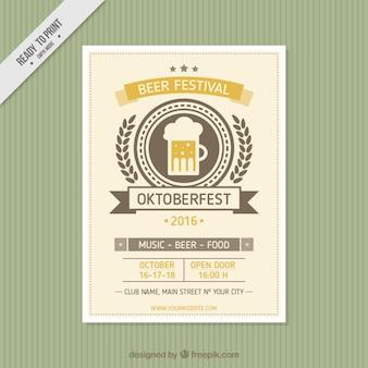 Cute brochure of oktoberfest in vintage style