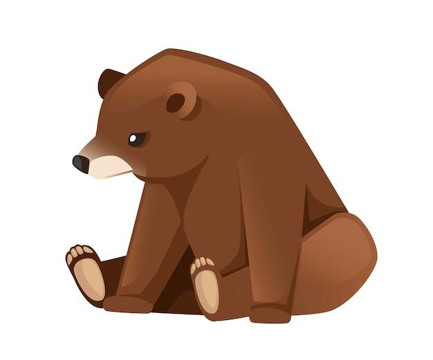 Милый бурый медведь карниворанские млекопитающие