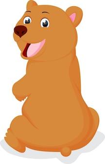 귀여운 갈색 곰 만화
