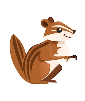 かわいい茶色のホリネズミ漫画の動物のデザイン