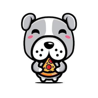 Cute bulldog character   design