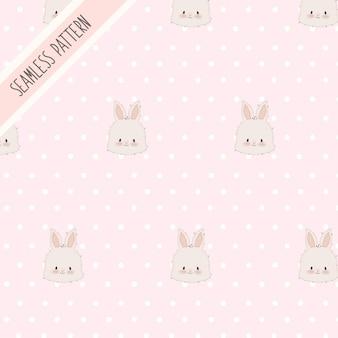 Симпатичные кролики бесшовные модели