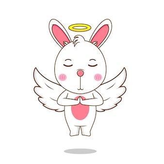 天使のようなかわいいウサギ