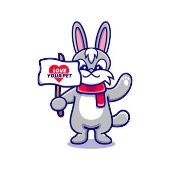 Кампания милого кролика, чтобы полюбить своего питомца