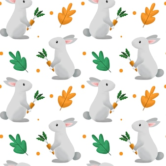 Cute bunny and carrot pattern.
