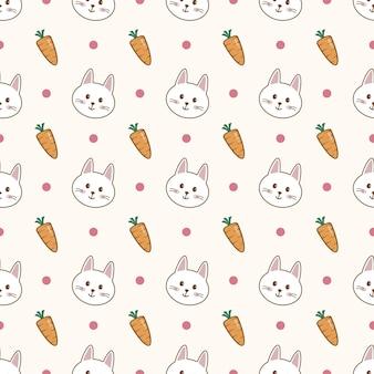 귀여운 토끼 만화 원활한 패턴