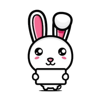 귀여운 토끼 캐릭터 벡터 디자인