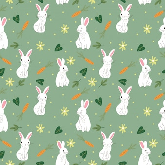 Cute bunny seamless pattern