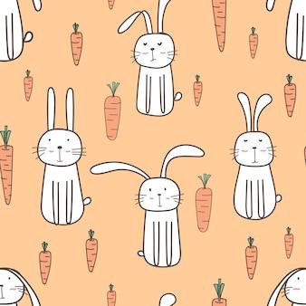 Cute bunny seamless pattern