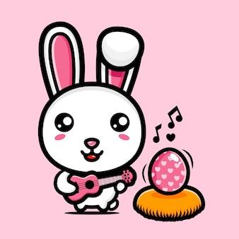 장식 계란 귀여운 토끼 행복 한 부활절 날