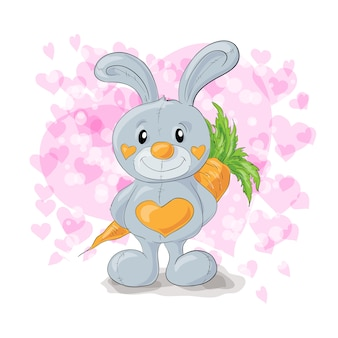 마음 만화와 귀여운 토끼입니다.