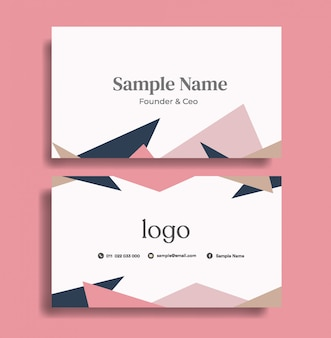 Cute business card design template