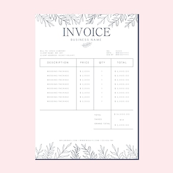 Cute business invoice template