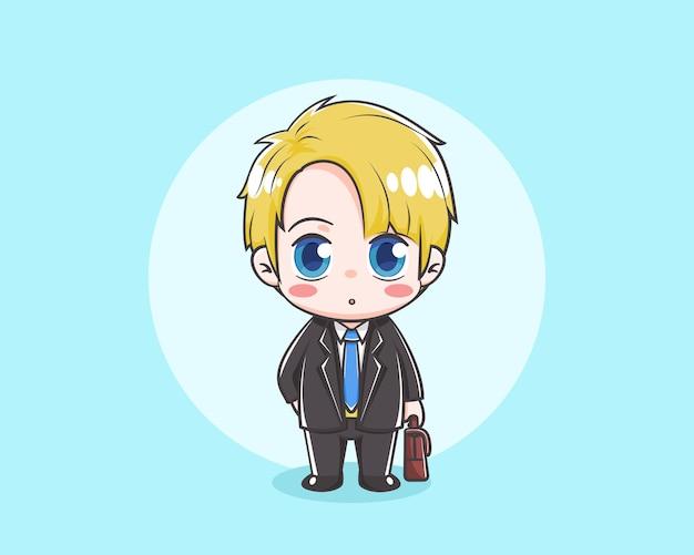 Cute businessman cartoon illustration