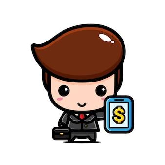 かわいい実業家のキャラクターデザイン
