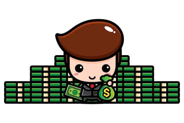 Cute businessman character   design