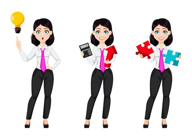 Cute businesswoman cartoon character