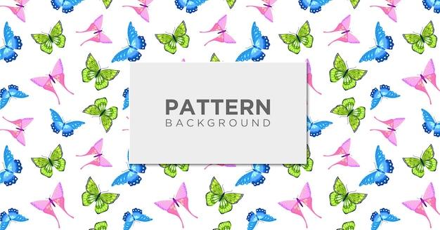 かわいい蝶のシームレスパターン